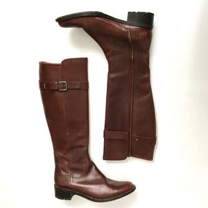 Cole Haan Cognac Leather Riding Boots